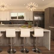 Natural affection  this kitchen by designer Christopher cabinetry, countertop, cuisine classique, floor, flooring, interior design, kitchen, room, orange, brown, black