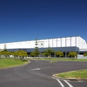 The new JPL Distribution Centre in East Tamaki architecture, commercial building, corporate headquarters, real estate, sky, structure, blue