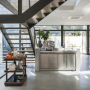 In this new kitchen by Domenic Ridolfi, one house, interior design, gray, white