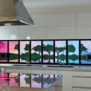 Illuminati backlit glass panels feature static or programmable display device, glass, interior design, window, gray