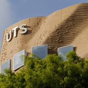Dr Chau Chak Wing Building at the UTS architecture, building, daytime, facade, landmark, sky, brown