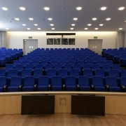 This 240-seat auditorium in the Dr Chau Chak auditorium, conference hall, convention center, blue