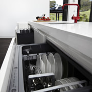 Fisher & Paykel appliances in this new beach countertop, home appliance, kitchen, major appliance, black, white, gray
