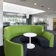 The new office interior for Ricoh in Auckland angle, architecture, furniture, interior design, office, product design, table, waiting room, gray, black
