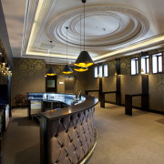 The new Grand Circle foyer (previously attic space) ceiling, interior design, lobby, black