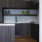 Dark-stained American oak cabinets with a custom profile architecture, cabinetry, countertop, floor, flooring, furniture, hardwood, house, interior design, kitchen, laminate flooring, room, wall, wood, wood flooring, black