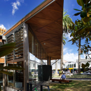 The new Devonport Library designed by Athfield Architects architecture, cottage, home, house, outdoor structure, pavilion, brown