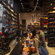 The new T2 store in Soho, New York grocery store, liquor store, retail, supermarket, black