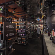 The new T2 store in Shoreditch London highlights liquor store, product, black