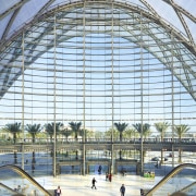 Entry to the ARTIC transit hub in Anaheim architecture, building, daylighting, metropolitan area, structure, urban area, white