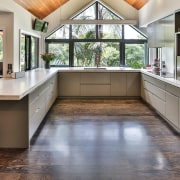 Sue Gillbanks of Kitchens By Design designed this countertop, cuisine classique, floor, flooring, hardwood, interior design, kitchen, real estate, room, gray