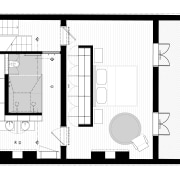 The floorplan of this renovated bathroom shows the architecture, area, black and white, design, drawing, elevation, facade, floor plan, font, home, house, line, pattern, plan, product, square, structure, white