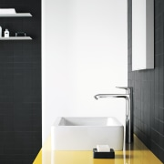 Featured brands at Mico Bathrooms include the the angle, bathroom, bathroom accessory, bathroom cabinet, bathroom sink, floor, interior design, plumbing fixture, product, product design, sink, tap, wall, white, black
