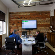 The boardroom in the Gaze office in Auckland furniture, interior design, office, brown, gray