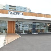 The new office for Bayleys in Remuera Road, real estate, gray, white