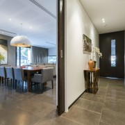 In this major renovation of a 1970s house, ceiling, floor, flooring, house, interior design, real estate, gray