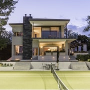 A large overhang on the east side of architecture, elevation, estate, facade, home, house, property, real estate, residential area