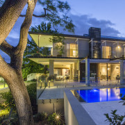 Perfect for entertaining on a grand scale, this estate, home, house, mansion, property, real estate, resort, swimming pool, villa, teal