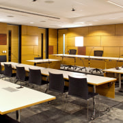 The Ministry of Justice Specialist Courts in Auckland, conference hall, interior design, office, table, white