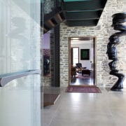 This front door handle design by Chant has architecture, floor, interior design, lobby, gray