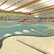 Earcon Acoustics has consulted on major facilities for leisure, leisure centre, recreation, sport venue, structure, swimming pool, yellow