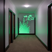 Illuminate back-lit panels for feature, or night light, ceiling, green, interior design, light, lighting, black, gray