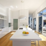 This kitchen, designed and manufactured by Mastercraft Kitchens architecture, countertop, house, interior design, kitchen, real estate, white