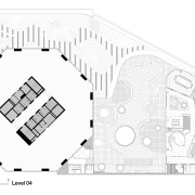 Plan of the meeting and training floor in architecture, area, black and white, design, diagram, drawing, elevation, floor plan, font, line, plan, product, product design, structure, text, white