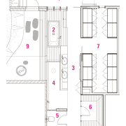 Legend to plans of master suite in house angle, architecture, area, design, drawing, floor plan, line, pattern, plan, product, product design, structure, white