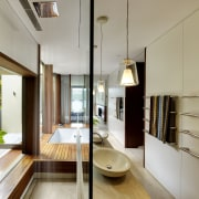 This new bathroom by Tanner Kibble Denton Architects architecture, house, interior design, real estate, gray
