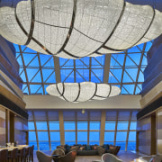 The sky lounge at the Sunrise Kempinski Hotel, architecture, blue, ceiling, daylighting, glass, interior design, window