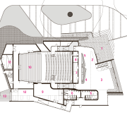 Ground floor plan of The Blyth Perfoming Arts architecture, area, design, diagram, drawing, floor plan, home, house, line, plan, product, product design, property, residential area, structure, white