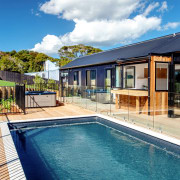 Everything about this new home on Waiheke Island estate, home, house, leisure, property, real estate, swimming pool, villa, teal