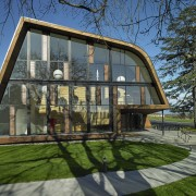 The Blyth Performing Arts Centre forms part of architecture, building, cottage, estate, facade, home, house, property, real estate, residential area, tree