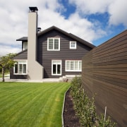 The comprehensive list of materials supplied for this architecture, cottage, estate, facade, farmhouse, grass, home, house, lawn, property, real estate, residential area, siding, sky, window, brown, white
