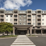 The final stage of the upmarket Poynton retirement apartment, architecture, building, commercial building, condominium, corporate headquarters, elevation, estate, facade, home, house, mixed use, neighbourhood, property, real estate, residential area, gray