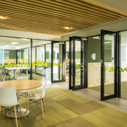 Most work stations in the Waiariki Institute of ceiling, interior design, lobby, real estate, window, brown