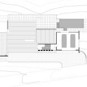 Located on a steep coastal site, this residence architecture, area, black and white, design, diagram, elevation, facade, floor plan, font, home, house, line, plan, product, product design, property, real estate, structure, text, white
