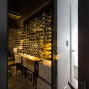 Bright bouquet  this wine cellar is off interior design, black, brown