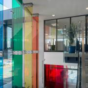 Metro Performance Glasss new premises has entrances to apartment, architecture, door, glass, house, interior design, real estate, window, gray