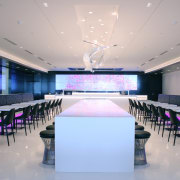 This food hall at the spacious new Air auditorium, ceiling, conference hall, convention center, function hall, interior design, gray