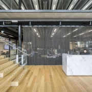 These steps  one side for walking, the architecture, daylighting, floor, flooring, structure, gray, orange