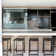 Layer upon layer  this kitchen has staggered interior design, kitchen, table, white