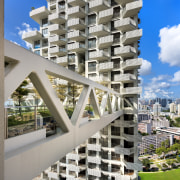 Safdie Architects design of Sky Habitat maximises views apartment, architecture, building, condominium, facade, metropolis, mixed use, property, real estate, residential area, sky, skyscraper, tower block, gray