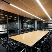 For this architects office fit-out, the main meeting architecture, ceiling, interior design, black