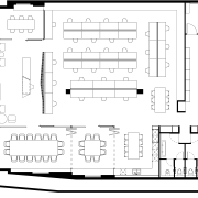 The floorplan of Hillam Architects new premises shows angle, area, black and white, design, diagram, drawing, floor plan, font, line, music, plan, product, product design, structure, technical drawing, text, white