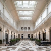 The new floor in the old Perth GPO arcade, ceiling, courtyard, daylighting, interior design, lobby, tourist attraction, gray