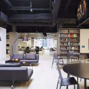 Havas, Chicago by Gary Lee Partners  the interior design, loft, black, white