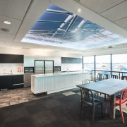 The reinvented spaces for Powell Fenwick  Consultants ceiling, daylighting, interior design, office, real estate, gray, white, black