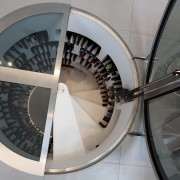 Light from below  this imported feature wine product design, wheel, gray, black